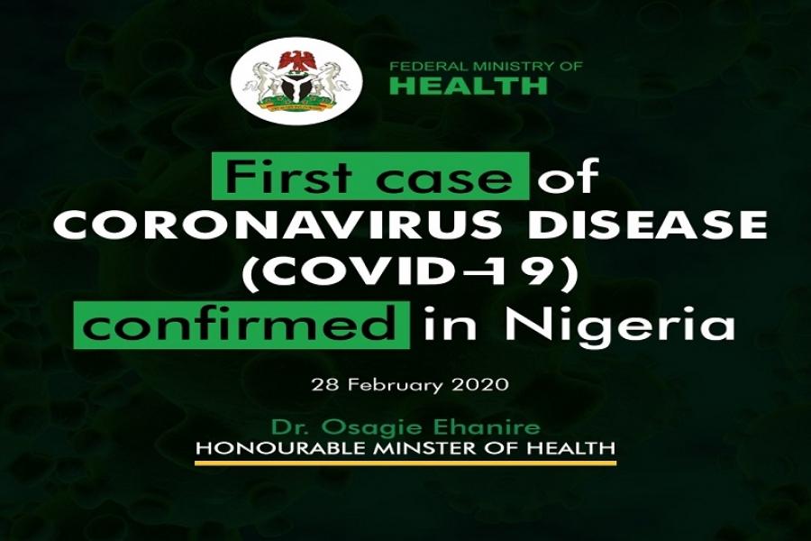 Nigeria Confirms First Case Of Coronavirus In Lagos State