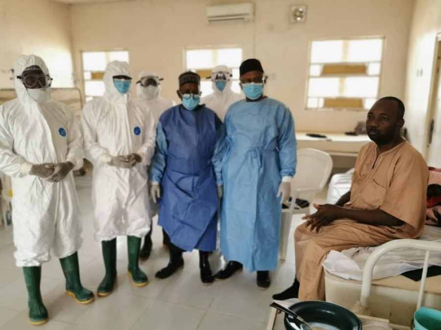 Health Minister Visits Isolation Centre And Lassa Fever Vicitm